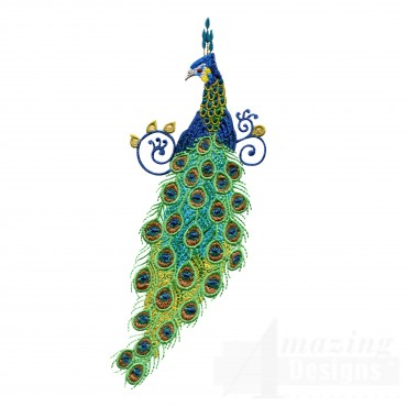 Swnpa138 Peacock Embroidery Design