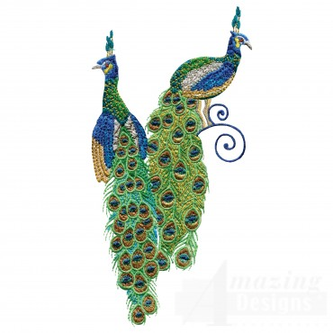 Swnpa139 Peacock Embroidery Design