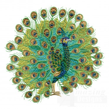 Swnpa145 Peacock Embroidery Design