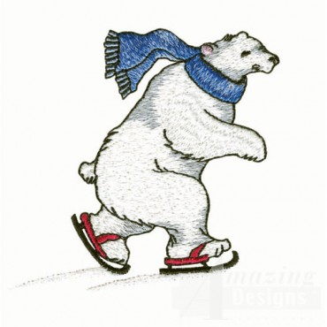 Polar Bear Ice Skating