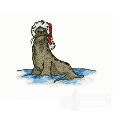 Seal in Santa Hat