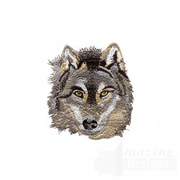 Swnmw102 Wolf Embroidery Design