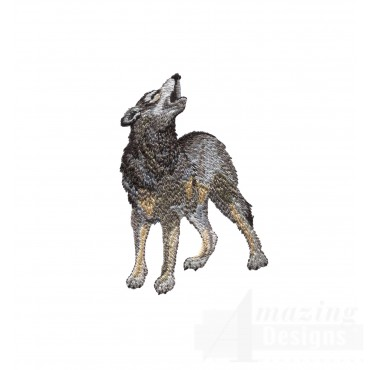 Swnmw105 Howling Wolf Embroidery Design