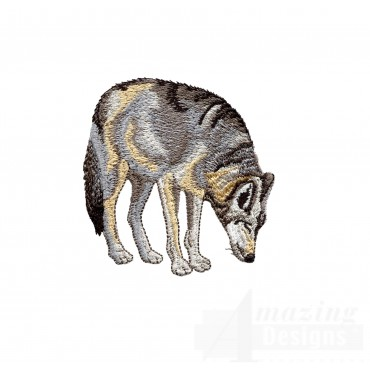 Swnmw109 Wolf Embroidery Design