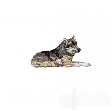 Swnmw110 Wolf Embroidery Design