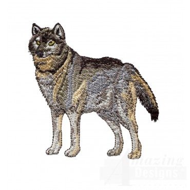 Swnmw115 Wolf Embroidery Design