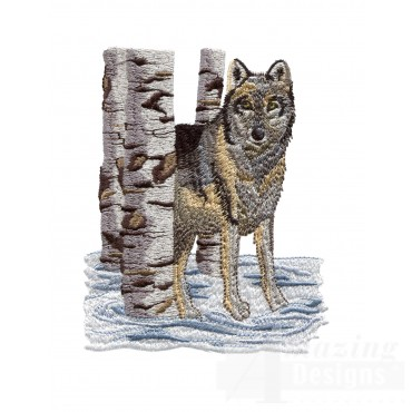 Swnmw116 Wolf Embroidery Design