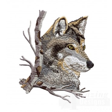 Swnmw117 Wolf Embroidery Design