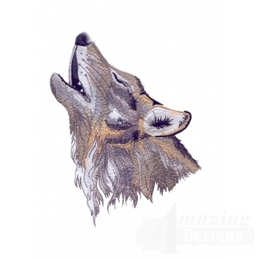 Swnmw125 Howling Wolf Embroidery Design