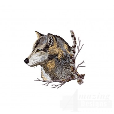 Swnmw126 Wolf Embroidery Design