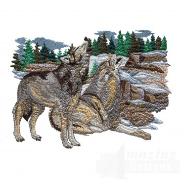 Swnmw130 Wolf Embroidery Design