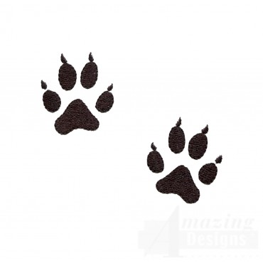 Swnmw142 Wolf Prints Embroidery Design