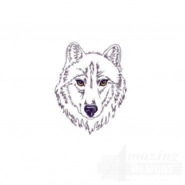 Swnmw144 Outline Wolf Embroidery Design
