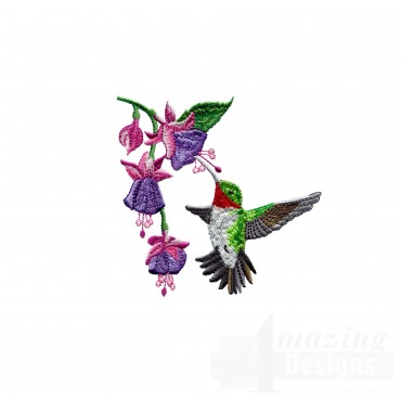 Swnhe101 Hummingbird Enchantment Embroidery Design