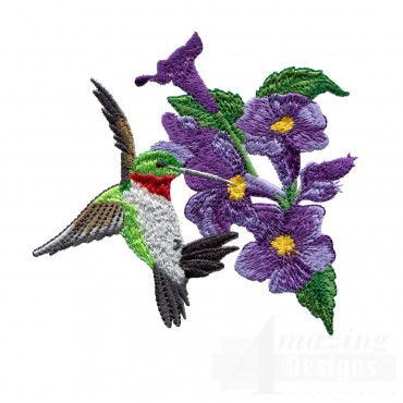 Swnhe116 Hummingbird Enchantment Embroidery Design