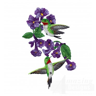 Swnhe123 Hummingbird Enchantment Embroidery Design
