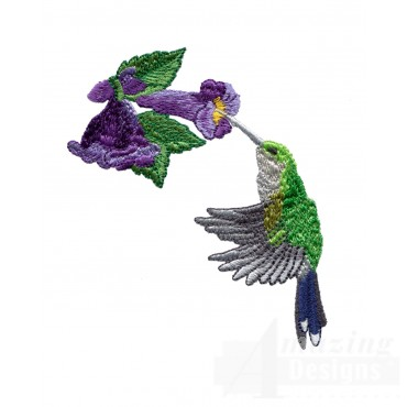 Swnhe134 Hummingbird Enchantment Embroidery Design
