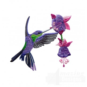 Swnhe144 Hummingbird Enchantment Embroidery Design