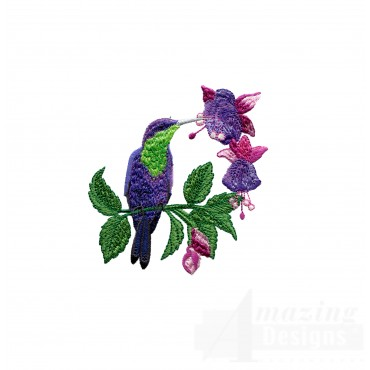Swnhe147 Hummingbird Enchantment Embroidery Design