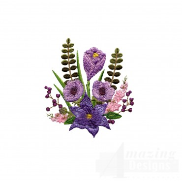 Swnfl207 Flourishing Flowers Embroidery Design