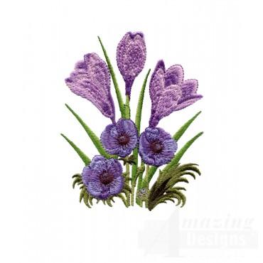Swnfl210 Flourishing Flowers Embroidery Design