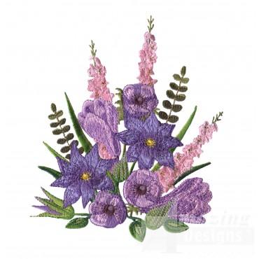 Swnfl214 Flourishing Flowers Embroidery Design