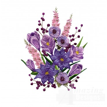 Swnfl215 Flourishing Flowers Embroidery Design