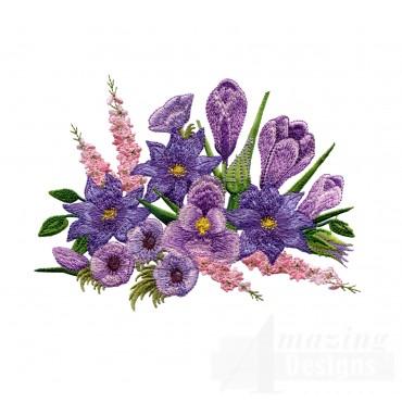 Swnfl218 Flourishing Flowers Embroidery Design