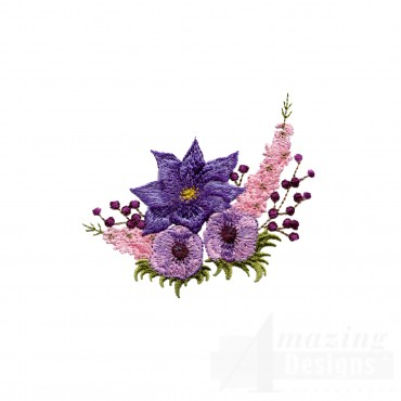 Swnfl223 Flourishing Flowers Embroidery Design