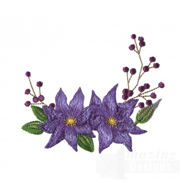 Swnfl228 Flourishing Flowers Embroidery Design