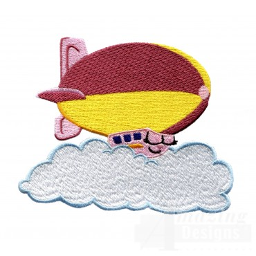 Swncpc108 Cloud Blimp Embroidery Design