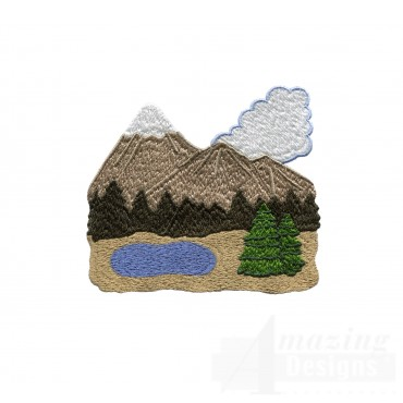 Swncpc123 Mountains Embroidery Design