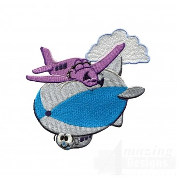 Swncpc142 Blimp And Plane Embroidery Design