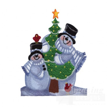Snowmen with Tree