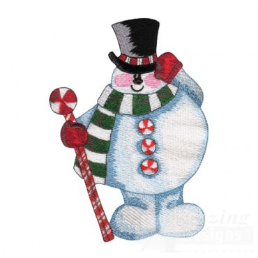 Snowman with Cane
