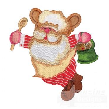 Santa Bear Baking