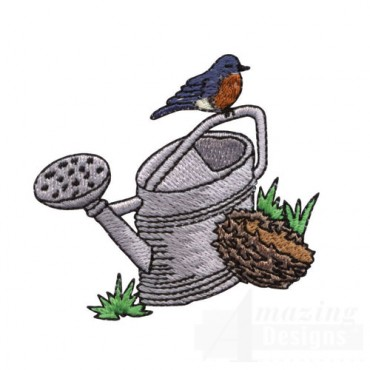 Robin and Watering Can