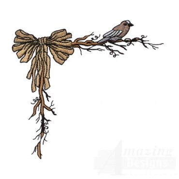 Raffia Bow and Bird