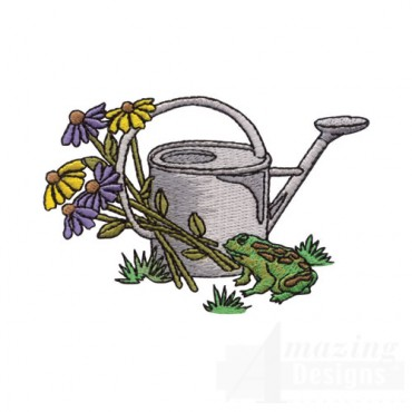 Watering Can and Frog