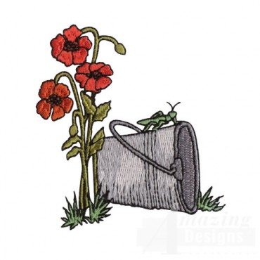 Flowers and Pail