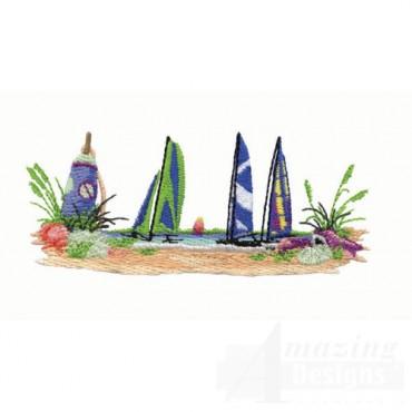 Sail Boats Scene