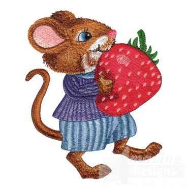Mouse with Strawberry
