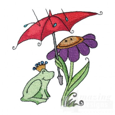 Flower with Frog and Umbrella