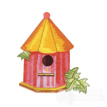 Birdhouse With Leaves