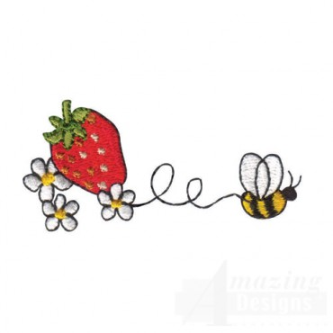 Strawberry and Bee