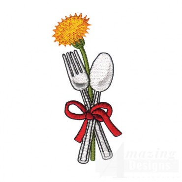 Utensils and Flower