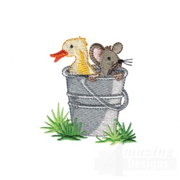 Duck and Mouse in Pail