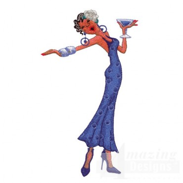 Woman Drinking Martini