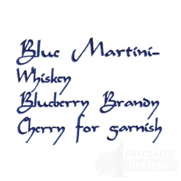 Blue Martini Ingredients