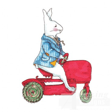 Rabbit on a Tractor